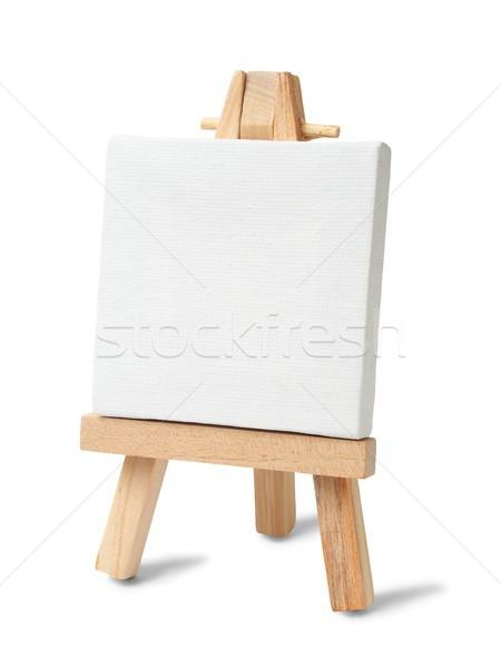 Kicsi festőállvány vászon fehér festék Stock fotó © ajt