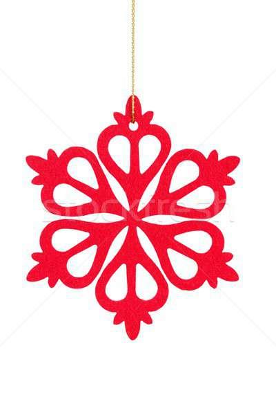 Natale fiocco di neve bianco rosso isolato albero Foto d'archivio © ajt