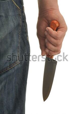 Strony nóż krwi odizolowany biały Zdjęcia stock © ajt