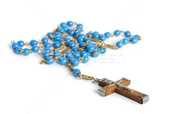 Rozenkrans macro oude geïsoleerd witte gebed Stockfoto © ajt