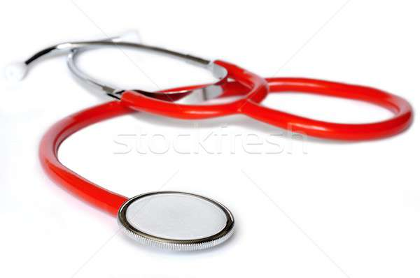Sztetoszkóp izolált orvos nővér piros beteg Stock fotó © ajt