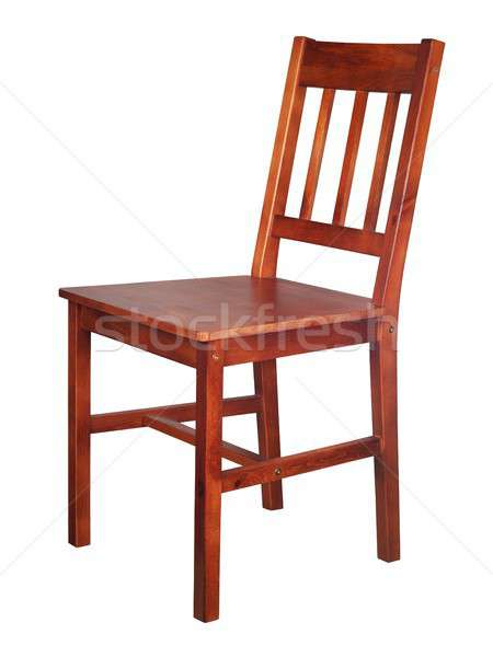 Wooden chair on white Stock photo © ajt