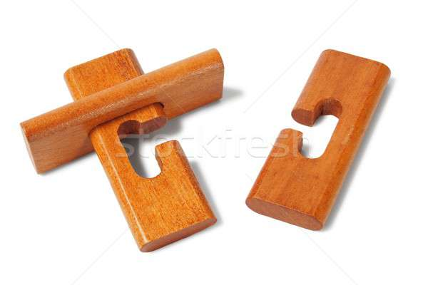 Wooden logic puzzle Stock photo © ajt
