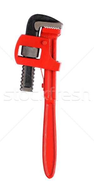 Cső franciakulcs izolált fehér szerszámok piros Stock fotó © ajt