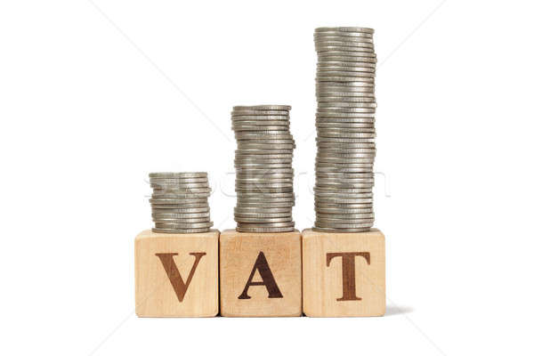 ÁFA növekvő adózás fakockák pénz oktatás Stock fotó © ajt