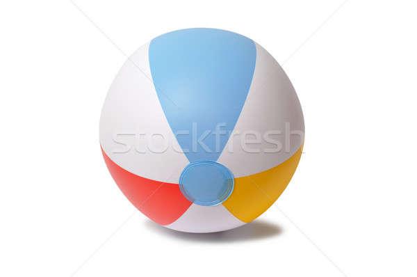Bola de praia inflável isolado branco bola jogo Foto stock © ajt