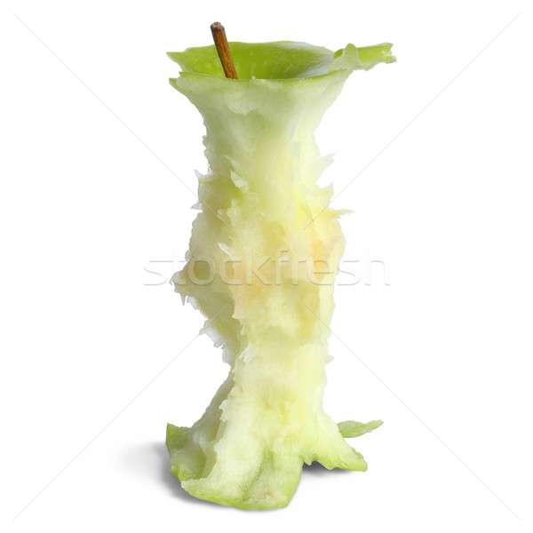 Jabłko rdzeń odizolowany żywności zielone Zdjęcia stock © ajt