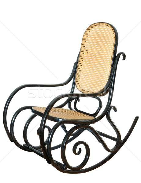 Schommelstoel geïsoleerd stoel swing grootvader opa Stockfoto © ajt