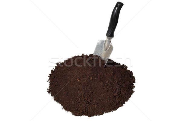 Solo isolado branco terra ferramenta agricultura Foto stock © ajt