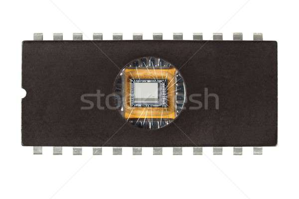 Old computer chip Stock photo © ajt