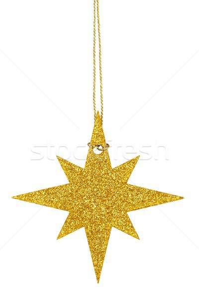 Natal estrela branco enforcamento árvore celebração Foto stock © ajt