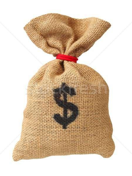 Money bag on white Stock photo © ajt