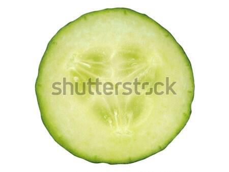 Photo stock: Concombre · tranche · blanche · isolé · alimentaire · légumes