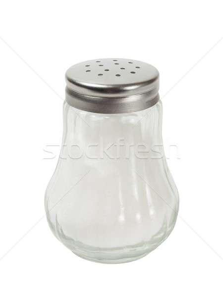 Zout shaker witte geïsoleerd Stockfoto © ajt