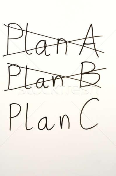 Plan birisi yazı plan b tahta değiştirmek Stok fotoğraf © ajt