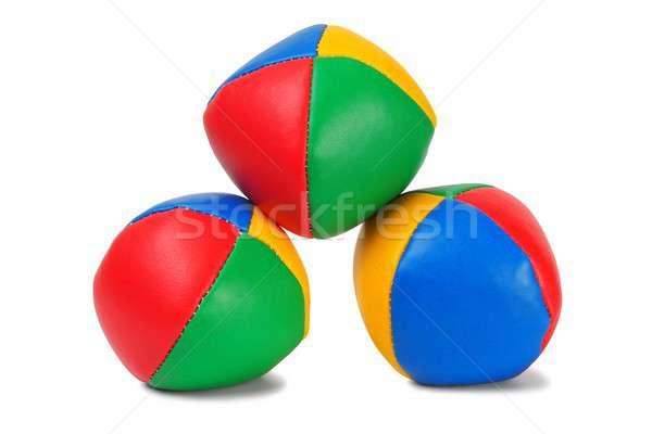 Stock photo: Juggling balls