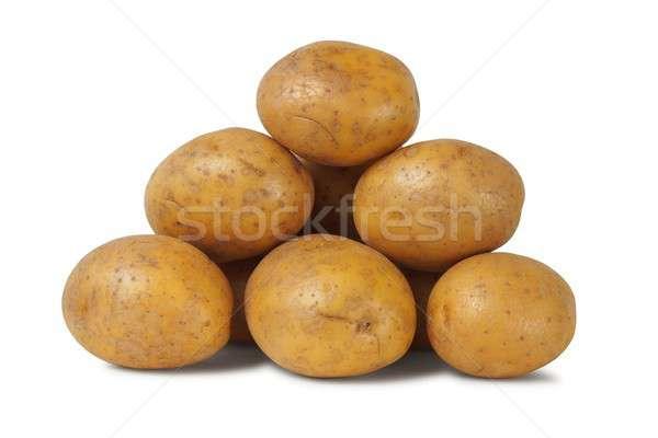 Stock photo: Heap of potatoes