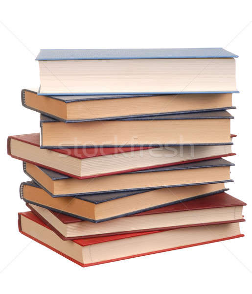Könyvek boglya izolált fehér könyvtár bölcsesség Stock fotó © ajt