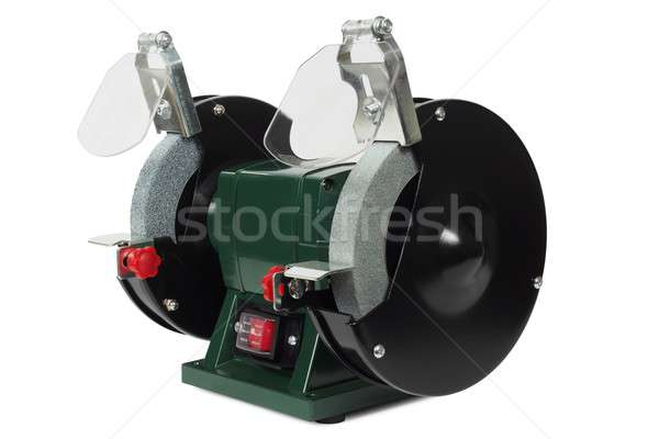 Bench grinder on white Stock photo © ajt