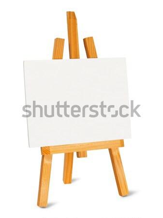 небольшой мольберт холст белый краской художника Сток-фото © ajt