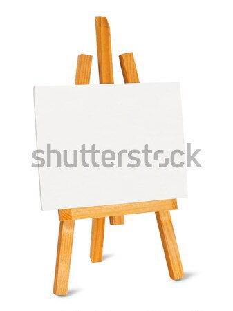 Pequeno cavalete lona branco pintar pintor Foto stock © ajt