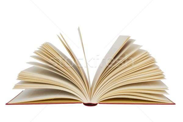 開いた本 孤立した 図書 読む 文字 オープン ストックフォト © ajt