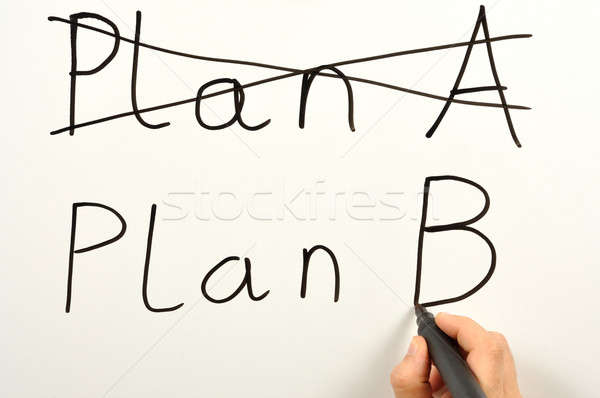 Plan b birisi yazı plan tahta Stok fotoğraf © ajt