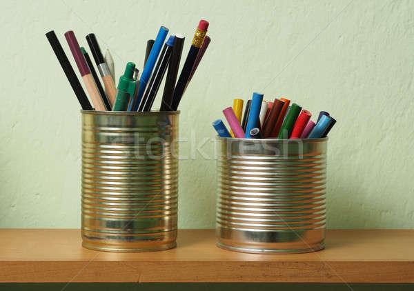 Дать олово можете карандашей ручках Сток-фото © ajt