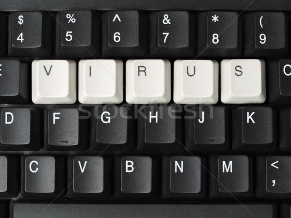 Virus informatique touches virus mot clavier Photo stock © ajt