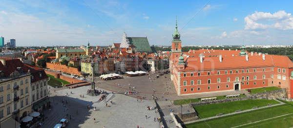 Варшава Панорама Польша колокола башни Сток-фото © ajt