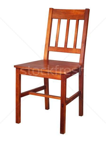 木製の椅子 白 孤立した 椅子 家具 ヴィンテージ ストックフォト © ajt
