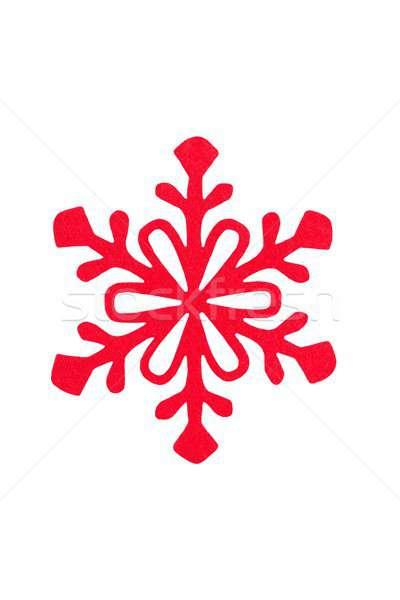 Christmas sneeuwvlok witte Rood geïsoleerd Stockfoto © ajt