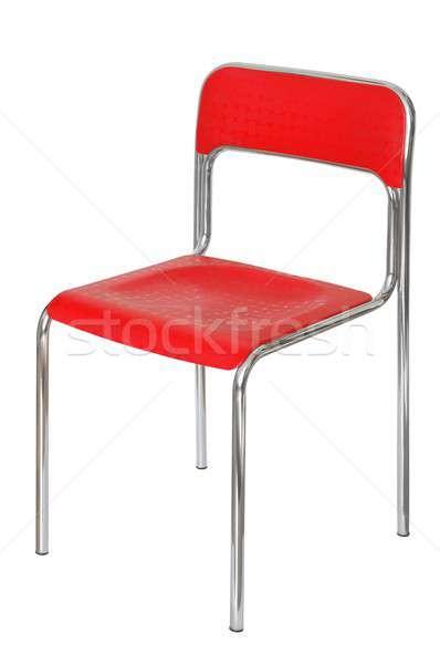Cadeira isolado vermelho metal pernas Foto stock © ajt