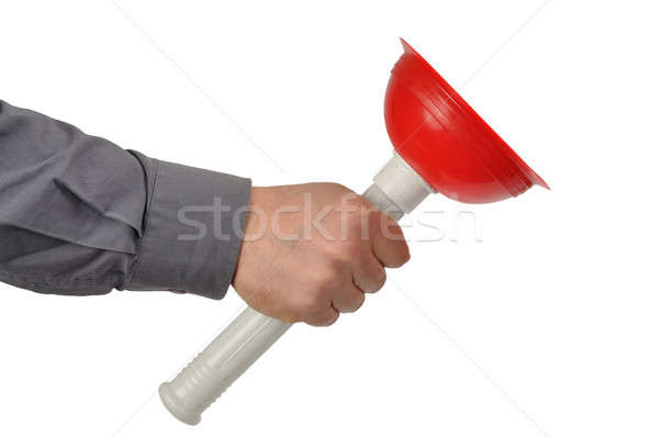 Plumber with Plunger Stock photo © ajt