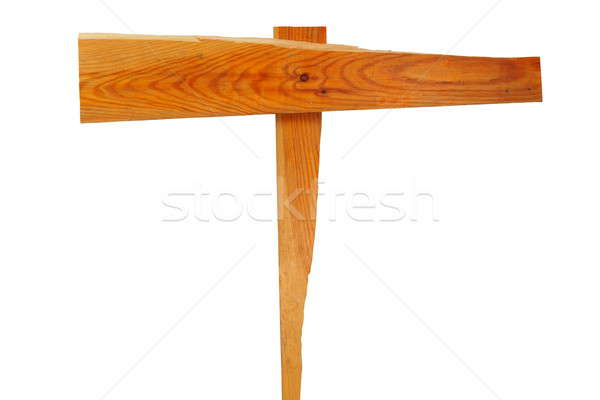 Tabelasını boş ahşap ok işareti yalıtılmış beyaz Stok fotoğraf © ajt