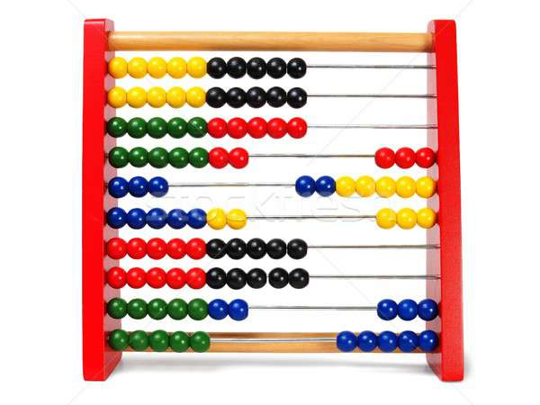 Abacus on white Stock photo © ajt