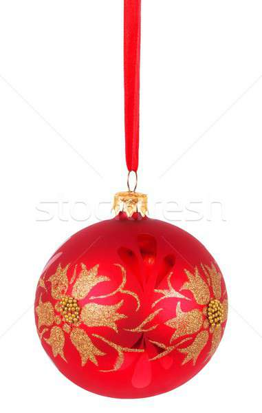 Christmas bauble on white Stock photo © ajt