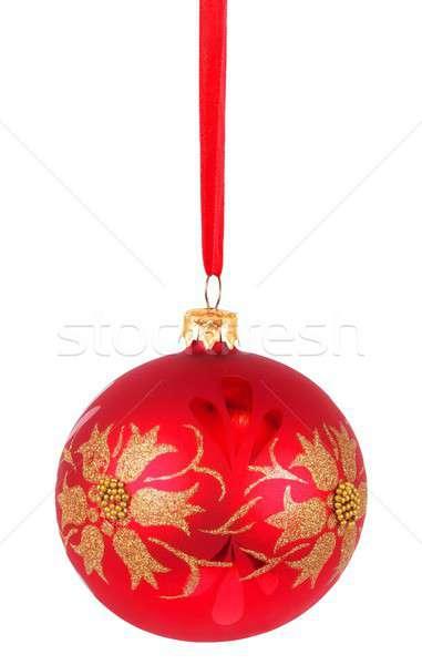 Christmas cacko biały odizolowany drzewo wakacje Zdjęcia stock © ajt