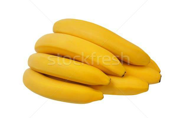 Photo stock: Jaune · bananes · blanche · isolé · alimentaire