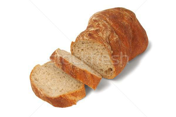 Photo stock: Pain · blanche · chignon · tranches · alimentaire · blé