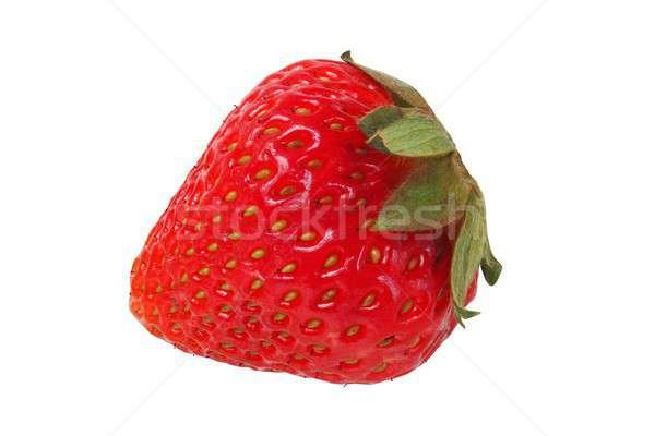 Morango branco isolado comida frutas morangos Foto stock © ajt