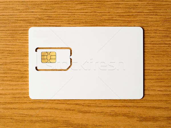 Blank SIM card Stock photo © ajt