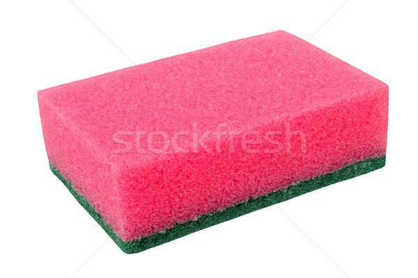 Cleaning sponge on white Stock photo © ajt