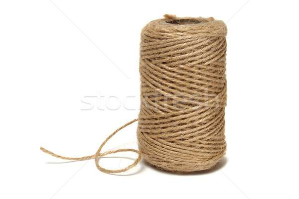Makara yalıtılmış beyaz halat Stok fotoğraf © ajt