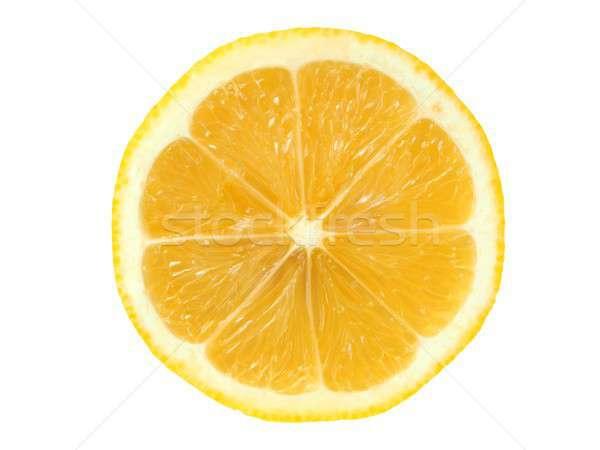 レモンスライス 白 ジューシー 孤立した フルーツ 黄色 ストックフォト © ajt