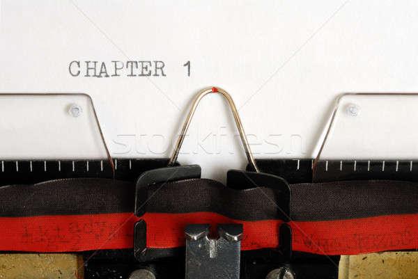 章 マクロ タイプライター 書く 文字 新しい ストックフォト © ajt