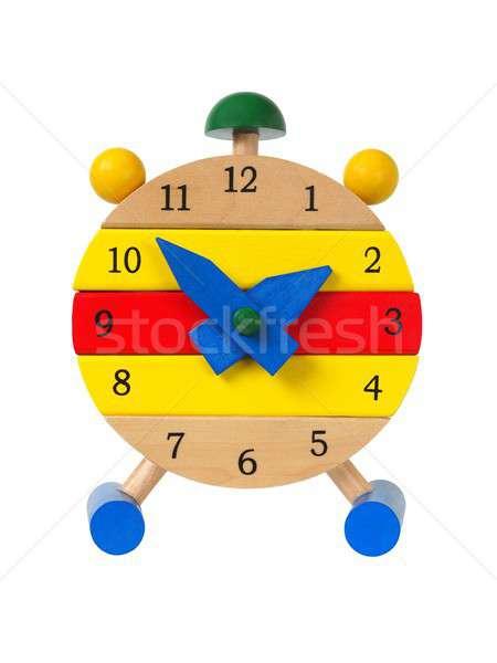 Toy clock on white Stock photo © ajt