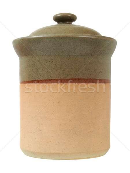 Keramische container witte groot geïsoleerd Stockfoto © ajt