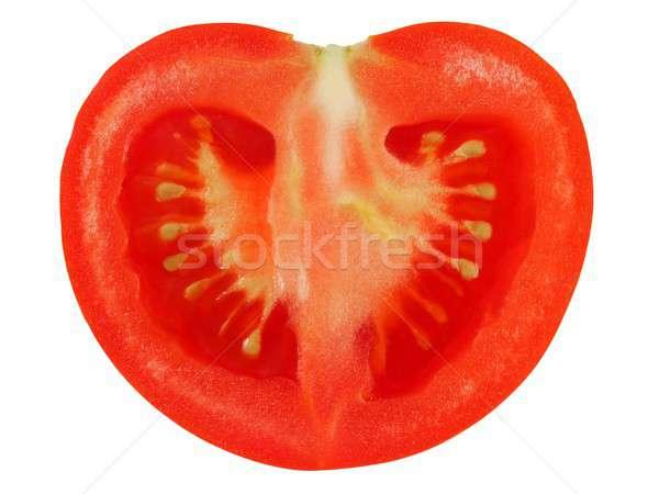 Tomaat witte half geïsoleerd voedsel zoete Stockfoto © ajt