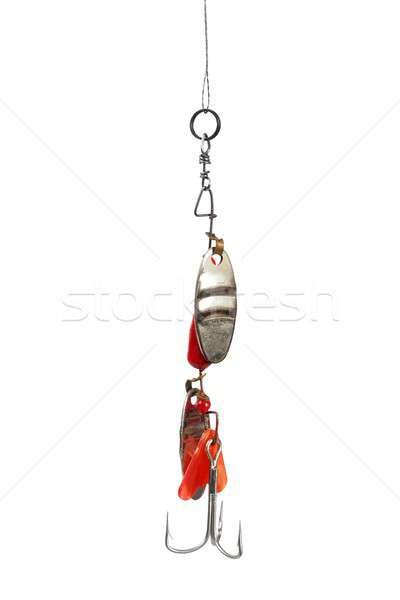 Fishing bait on white Stock photo © ajt